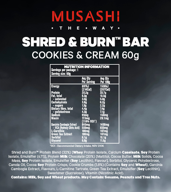 Shred-Burn-Cookie-&-Cream-60g-NIP